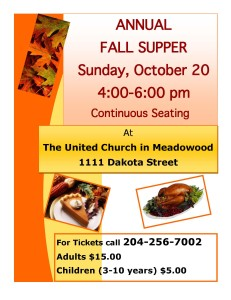 Fall Supper Poster 2013