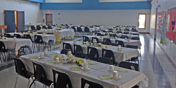 Fellowship Hall tables