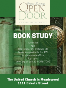 Open the Door   - Book Study @ United Church in Meadowood
