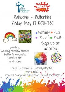 Messy Church at UCiM   Rainbows & Butterflies @ United Church in Meadowood