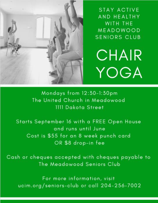 Remarkable Chair Yoga The United Church In Meadowood Creativecarmelina Interior Chair Design Creativecarmelinacom