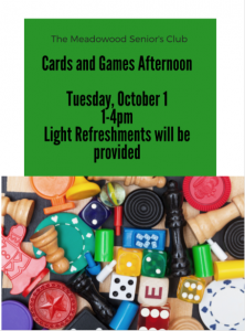 Cards & Games Afternoon @ United Church in Meadowood