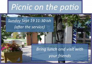 Picnic on the Patio @ Patio at United Church in Meadowood