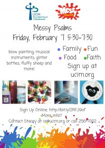 Messy Church at UCiM  -  Messy Psalms @ United Church in Meadowood